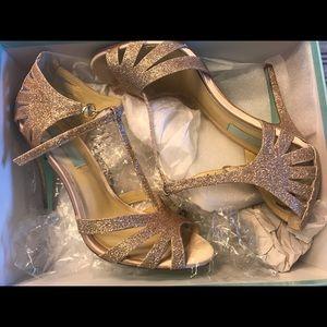 Blue Betsy Johnson Glitter heels